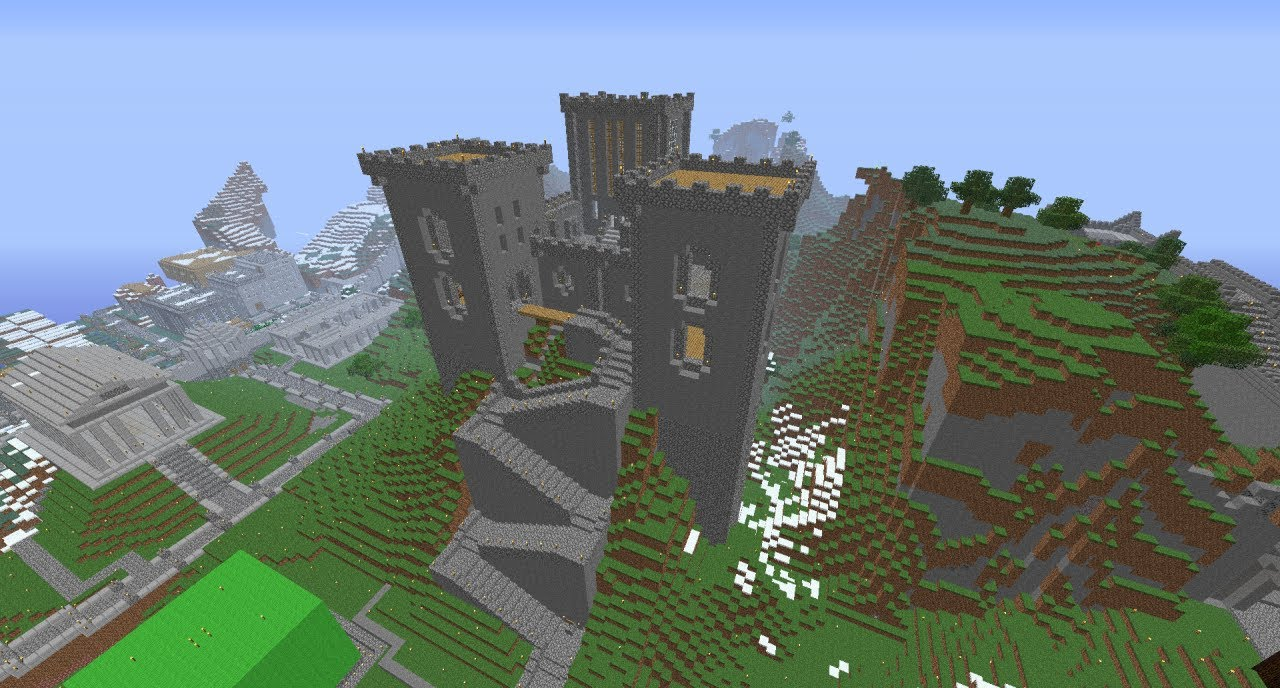 Minecraft mountain castle youtube for How to build a house in a mountain