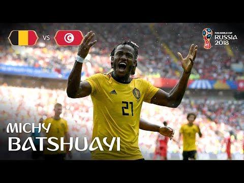 Michy BATSHUAYI Goal - Belgium v Tunisia - MATCH 29