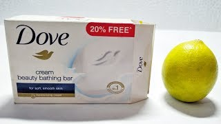 DIY Miniature Dove Bathing Beauty Bar Wash Soap & Lemon Natural Glowing Skin Life Hacks & Easy Tips