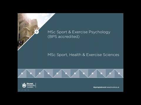 Sport, Health and Exercise Sciences MSc Webinar