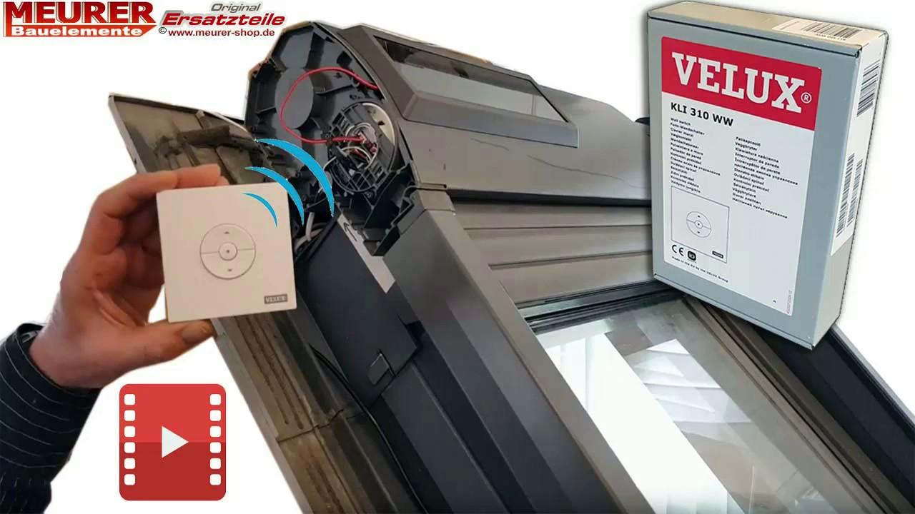 Kli 310 Tastatur Beim Velux Solar Rollladen Ssl Einlernen Youtube