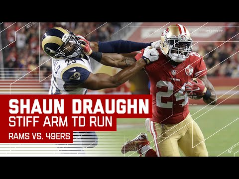 Shaun Draughn Stiff Arms His Way into the End Zone! | Rams vs. 49ers | NFL