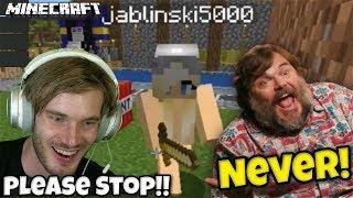 Jack Black gets Revenge on PewDiePie in Minecraft  | PewDiePie and Jablinski Games Minecraft Part 2