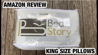 BED STORY KING SIZE PILLOWS • AMAZON REVIEW & DEMO
