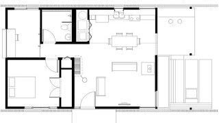 Plano de casa pequeña, incluimos fachada e interiores