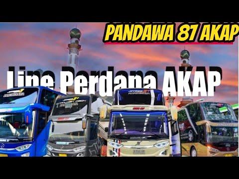 LINE PERDANA AKAP BUS PANDAWA 87 !  Keberangkatan Barat \u0026 Timur