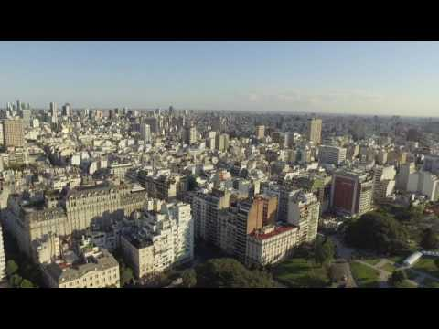 Buenos Aires Recoleta drone view