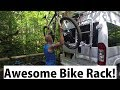 Fiamma Bike Rack on Our Camper Van. Roadtrek Van Life.