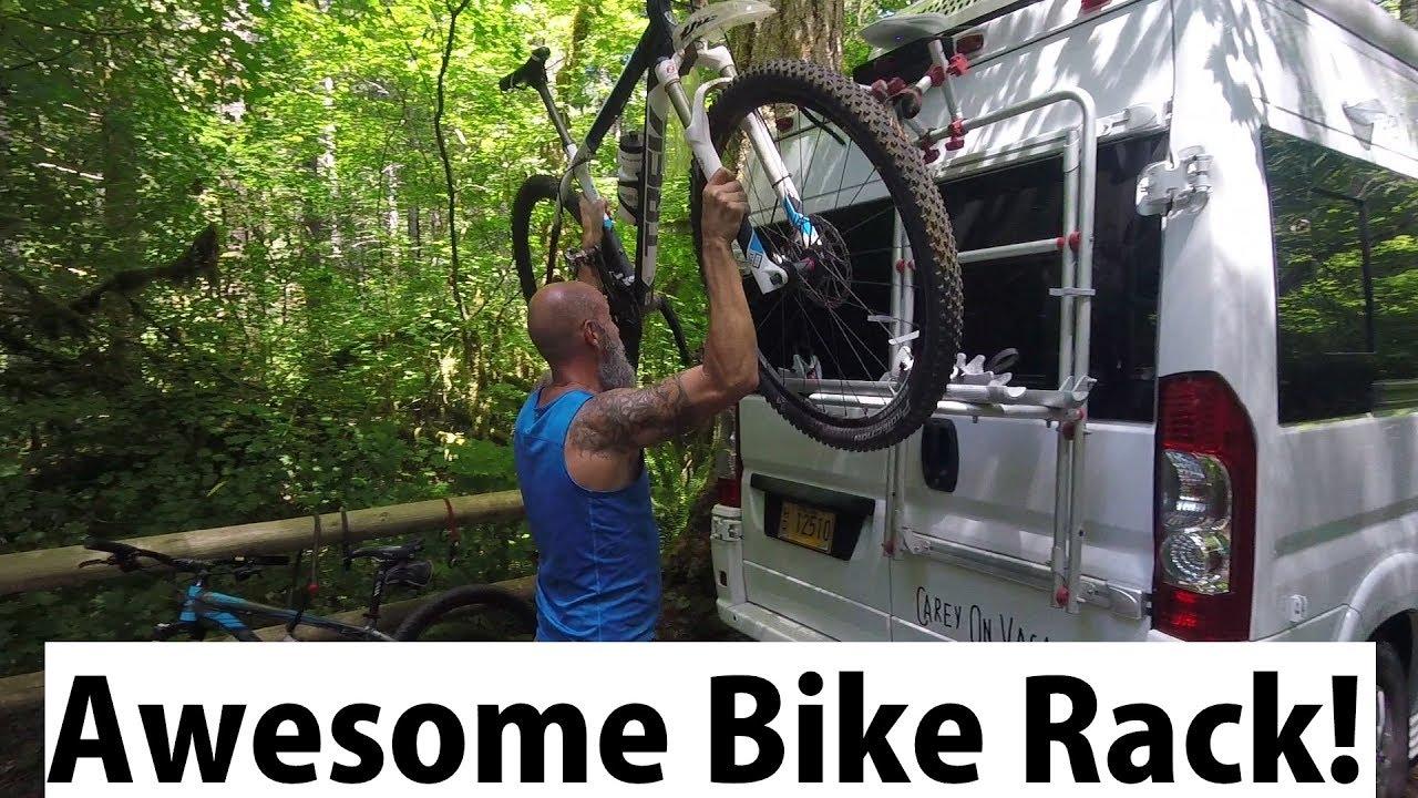 Fiamma Bike Rack On Our Camper Van Roadtrek Van Life