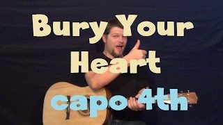 Bury Your Heart (Flyleaf) Easy Guitar Lesson Strum Chord How to Play Tutorial Capo 4th Fret