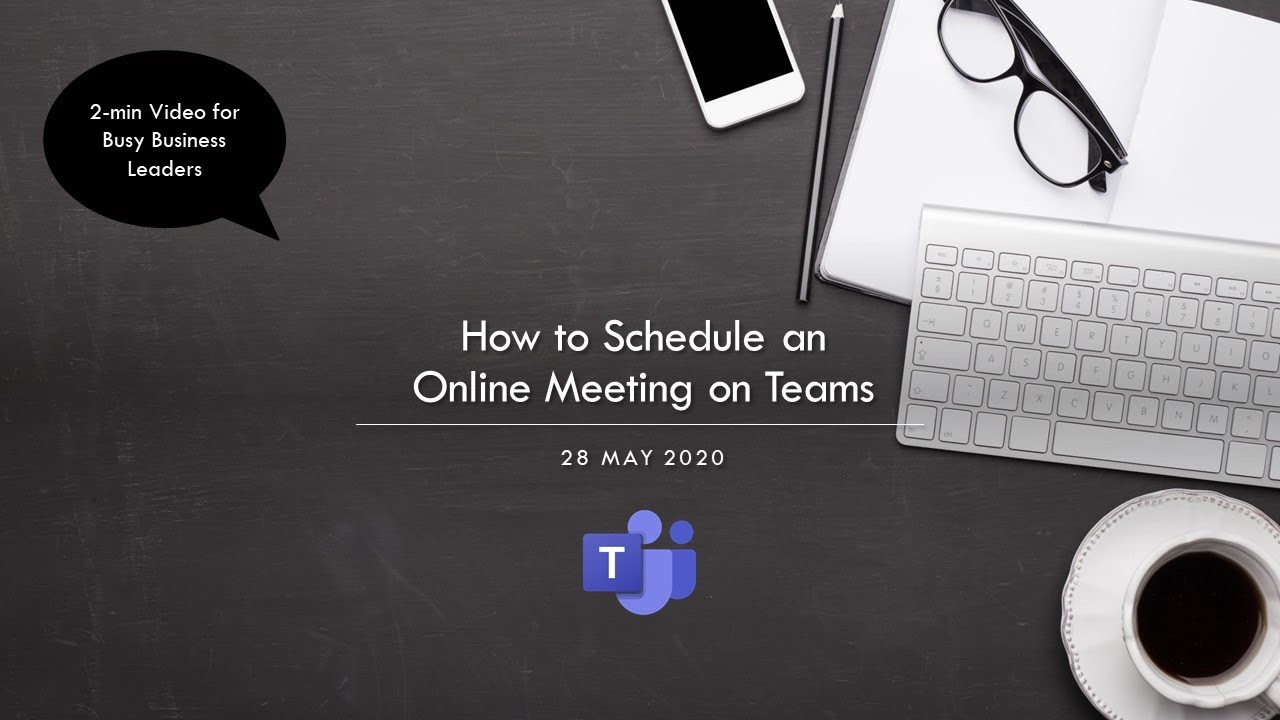 How to Schedule Teams Online Meeting in Outlook - & download background images for video call