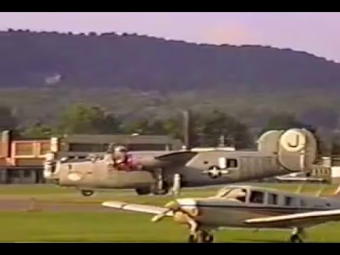 B-24 and B-17 visit to Williamsport, PA in 1991