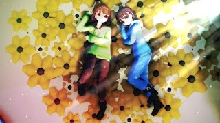 【MMD x Undertale】Self-Inflicted Achromatic【Frisk,Chara】
