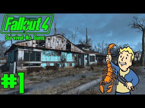 Fallout 4 - Survival No Guns - Part 1 - Hunting for Food