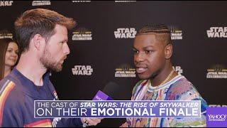 Baixar John Boyega, Daisy Ridley, Oscar Isaac and Kelly Marie Tran on Star Wars' emotional finale