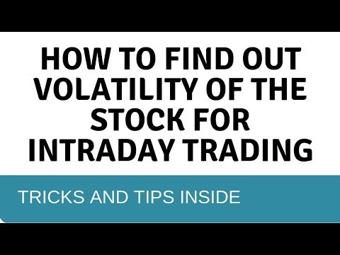 Stock Volatility - How To Find Out Volatility Of Any Stocks