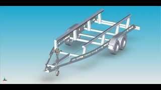 Прицеп для перевозки яхт лодок и катеров на воздушной подушке МАРС Багем
