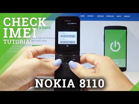 How To Check IMEI In NOKIA 8110 4G - Locate Serial Number