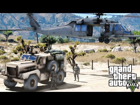 GTA 5 Military Combat Search & Rescue Pave Hawk Saving Marines Under Gun Fire Behind Enemy Lines
