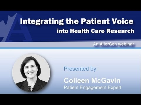Integrating the Patient Voice in Health Research: The What, Why and How