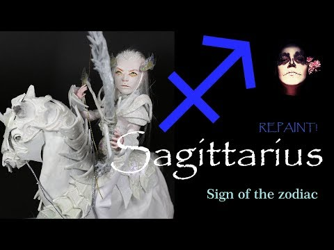 Repaint! Sagittarius Custom OOAK Monster High Doll Apoxie Sculpt