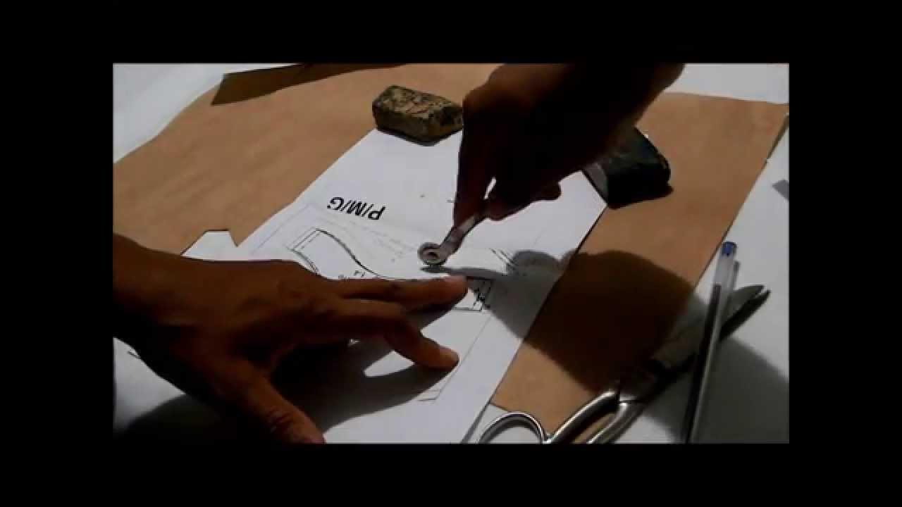 08459d584 Transferindo molde de lingerie para o papel - YouTube