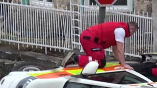 Nehoda sanitky 8.3.2017 Jablonec n.N.