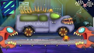ambulans menakutkan garasi mobil video pendidikan Kids Learning Video Toy Scary Ambulance