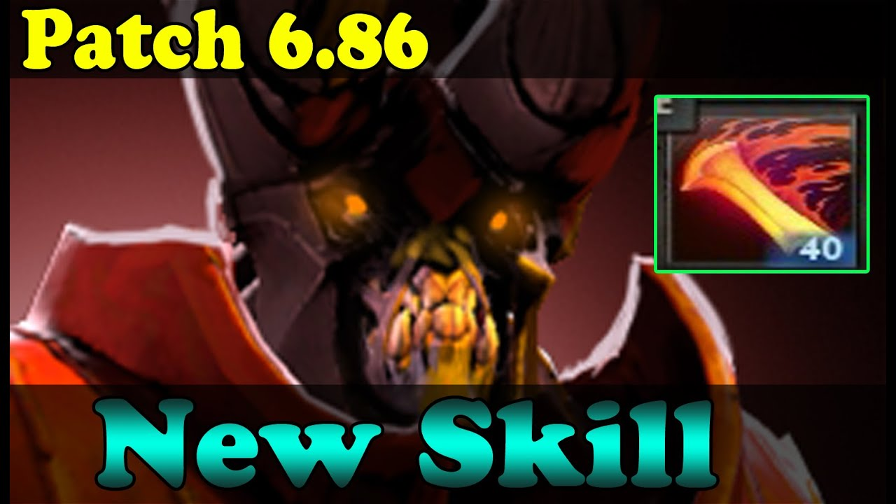 dota 2 patch 6 86 doom new skill infernal blade youtube