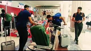 Pakistan Team at UAE International airport to back Lahore, Sportswire Pakistan