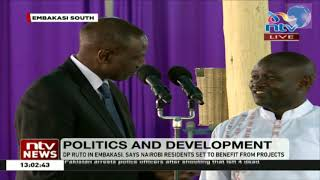 Ruto's light moment in church, forgets favourite song and asks choir leader to remind him