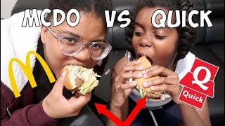 MCDO VS QUICK : #sakinafamily