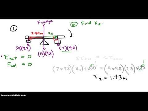 Rotational Equilibrium Problems