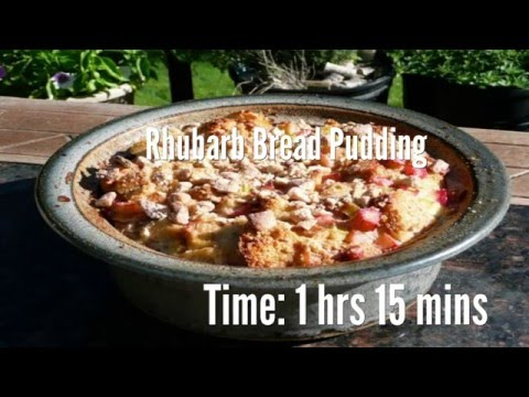 Rhubarb Bread Pudding Recipe