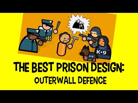 Prison Architect: The best prison layout: Outerwall defence Design