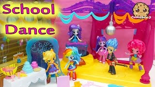 Repeat youtube video Canterlot High School Dance My Little Pony Equestria Girls Minis Dolls MLP Rainbow Dash + More