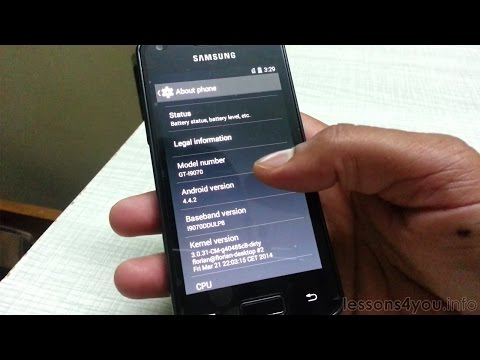 Install Android 4.4.2 KitKat on Samsung Galaxy S Advance I9070 - Carbon ROM