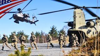 アメリカ陸軍・第12戦闘航空旅団のAH-64Dアパッチ・ロングボウ・ヘリコプ...