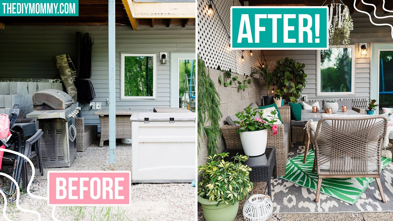PATIO MAKEOVER with *ALL NEW* OUTDOOR DIY IDEAS