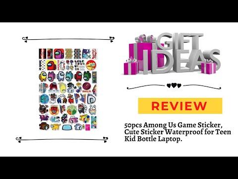 50pcs Among Us Game Sticker, Cute Sticker Waterproof for Teen Kid Bottle Laptop