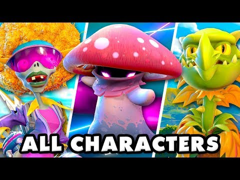 Plants Vs. Zombies Battle For Neighborville - All Characters! All Abilities!
