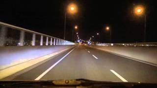 深夜の名古屋高速 堀田→一宮JCT  Nagoya Expressway 2015.12.08