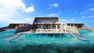 $38,000 A NIGHT OVERWATER VILLA TOUR!