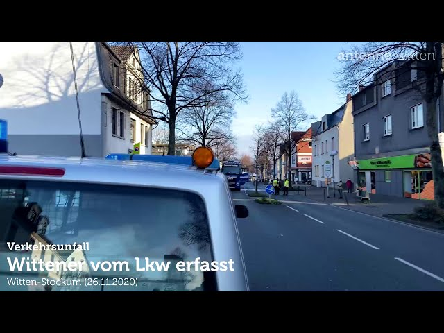 Wittener vom Lkw auf der Hörder Straße in WItten-Stockum erfasst