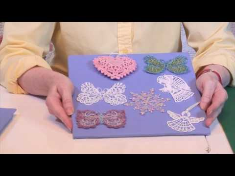 How to Machine Embroider Free-Standing Lace