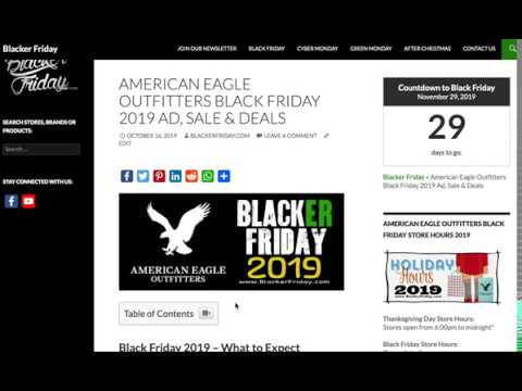 American Eagle Outfitters Black Friday 2019 Sale & Ad Preview