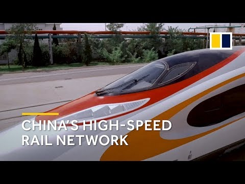 How big is China's high-speed rail network?