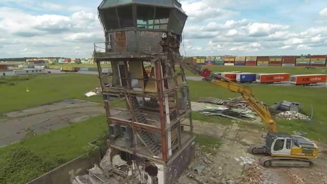 Raf Alconbury Atc Tower Demolition Youtube