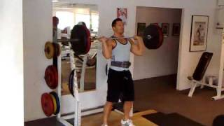 90KG Shoulder press (military press)