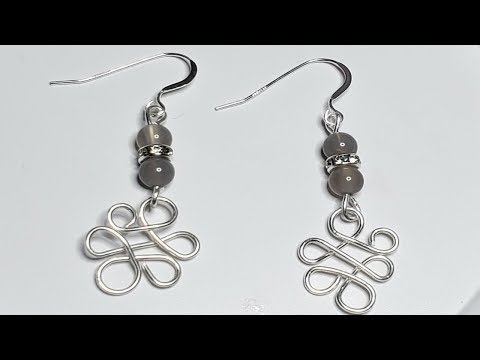 How to make Earrings with sterling silver wire and beads
